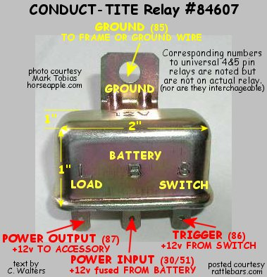 relay basics rh rattlebars com 12 Volt Relay Wiring Diagram 5 Pole 12 Volt Relay Wiring Diagram 5 Pole